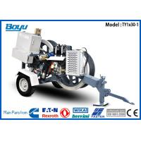 China 1 x 30KN Overhead Line Equipment , 12V Air Cooling Electric tensioner Honda Gasoline Engine 12kw German Rexroth Reducer for sale