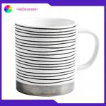 Tableware Sets Silkdscreen Coffee Mugs , Custom Ceramic Mugs 370ml Eco Friendly for sale