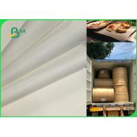 China 70gsm 120gsm Food Grade Uncoated White Bleached Kraft Paper FDA EU SGS Certified for sale