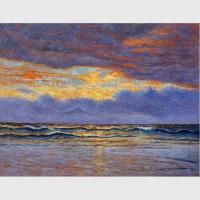China Impressionism Claude Monet Oil Paintings Reproduction Sunrise Seascape Oil Paintings for sale