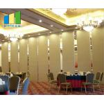 Hotel Folding Sliding Partition Wall System Banquet Acoustic Room Dividers For Restaurant for sale