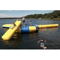 Commercial Grade Inflatable Water Trampoline Combo and Blob For Fun for sale