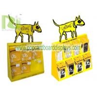 countertop pets display stand ,cardboard counter display unit with plastic hooks for blister products