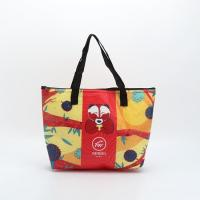 China Customized Non - Woven Laminated Tote Bags Pouch Beach Bag With Zipper for sale