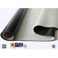 China Custom Black Silicone Coated Fiberglass Fabric Heat Protection High strength supplier