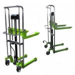 1.1 Meter Light Duty Forklift , Hydraulic Pallet Stacker With PU Wheels