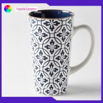 China Cappuccino Handmade Stoneware Mugs 8.5cm*15cm Ceramic Stoneware Mugs for sale