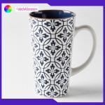 Cappuccino Handmade Stoneware Mugs 8.5cm*15cm Ceramic Stoneware Mugs for sale
