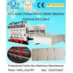 China Auto Chrome Carton Making Machine 60pcs/min With Chain Feeding Model For Printing for sale