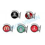 Round LOGO Sign Outdoor Fixed LED Display P4.68mm WiFi USB 4G Control For Store Bar for sale