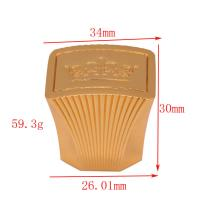 China High End Design Gold Crown Zamac Perfume Cap With Simple Personalized Cover supplier