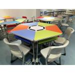 China Colourful Six Joint Student Desk And Chair Set PVC Edge For Training Room for sale