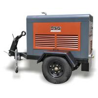 Tunnel 45KW Portable Diesel Air Compressors / Industrial Diesel Driven Screw Compressor for Railway and Highway for sale
