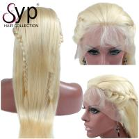 613 Blonde Full Lace Remy Human Hair Wigs Natural Blond Extensions Straight for sale