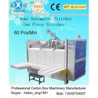 Semi-Automatic Stapler Carton Making Machine With Single / Double Stitching for sale