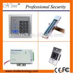 China Single wiegand access controller with 180 kg EM lock, infrared exit button, switch power supply zk access control for sale