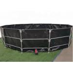 Outdoor Recirculating PVC Tarpaulin Fish Tank 30000L for sale