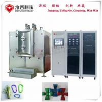 PVD Thin Film Coating Machine For Small Parts Precision Fasteners, SS screws TiN gold and TiC black film coating for sale