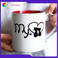 Handprinted Bone China Coffee Cups 600ml Nordic Ceramic With Photo Printing for sale