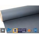 Heat Resisting Silicone Coated Fiberglass Fabric 18oz Black Acrylic Coating Fabric