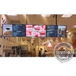43inch 8mm Gap Slim Metal Shell Digital Menu Board Wall Mount LCD Screen Remote Control For Restaurant for sale