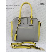 Contrast Colors Crossbody Tote Bag , PU Material Female Handbags Two Way Use for sale