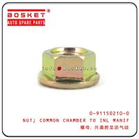 China 0-91150210-0 0911502100 Isuzu Engine Parts Common Chamber To Inlet Manifold Nut For 4JB1 NKR55 for sale