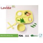 Eco - Friendly Waterproof Bamboo Fibre Dinnerware Set Reusable Dishwasher Safe Food Safe Square Shape for sale