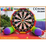 Interactive 5m High Inflatable Foot Darts Game / Inflatable Soccer Darts for sale