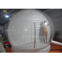 China Clear People Inside Inflatable Snow Balls For Advertisement 210D Nylon Material supplier