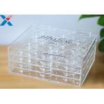 Custom 3 layer acrylic display case clear plastic false eyelash packaging box for sale