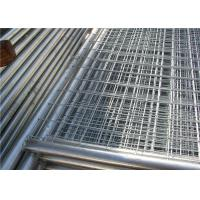 China Contruction protection steel Australian temporary fencing with round pipe for sale