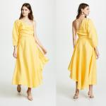 China Fashion Asymmetrical Clothing One Shoulder With Long Sleeve Woman  Maxi Dress Summer for sale