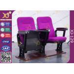 China Irwin Style Space Saving Small Back Auditorium Theater Chair With Folding Tablet ABS Material for sale