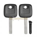 China Sliding Chip Holder Volvo Transponder Key Shell Uncut HU56R Key Blank for sale