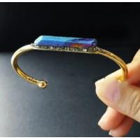 China Jewelries PVD Coating Service For IPG Plated Gold Pyrite Crystal Quartz Bangle supplier