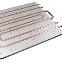China Cold Plate Copper Tube Water Cooled Heat Sink Aluminum Heatsink Extrusions for sale