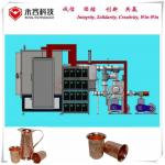 China Glass jug Embossed Design PVD Coating Machine , Gold Film  Ion Plating Equipment for sale
