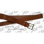 Black Painting Edges Tan Leather Belt , Mens Brown Leather Belt With Gold Buckle for sale