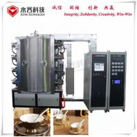 Titanium Nitride Coating Equipment on Ceramic Coffee Cups,  PVD Ceramic Gold Ion Plating Machine, for sale