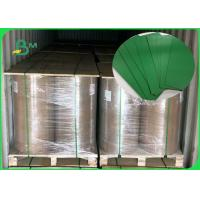 China FSC Accredited 1.2MM Green Board Great Stiffiness Rolls Packing For Making Box for sale