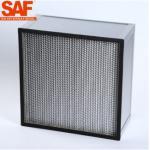 China Deep Pleated HEPA Filter Module Aluminium Foil Separators H13 Glassfiber Paper Media for sale