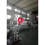 Aluminum Silvery Circle Truss Pillar For Wedding Decoration Lightweight for sale