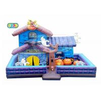 China Halloween Haunted House Inflatable Bounce House Combo With Blower Maintenance Kit supplier