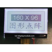 6 O ' Clock COG LCD Module , 160 X 96 ISO 14001 White LED FSTN LCD Module for sale