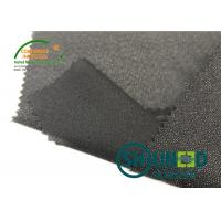 China Lightweight Twill Woven Lining Water Jet Polyester Interfacing Black Color for sale
