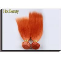 China Customized Orange Hair Silk Straight 100% Human Hair Double stitch weft supplier