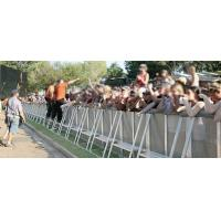 Line Array Prolyte Safety Barriers Crowd Control System Silver 30kg For Outdoor Catwalk Show