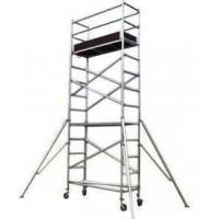Silver Color Aluminum Mobile Scaffolding Tower For Construction /  Decoration for sale