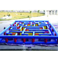 Outdoor Inflatable Maze Obstacle, Inflatable Maze Crossing Game For Kids for sale